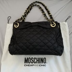Moschino Cheap and Chic nylon shoulder tote bag